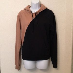 America Apparel color block hoodie, brand new